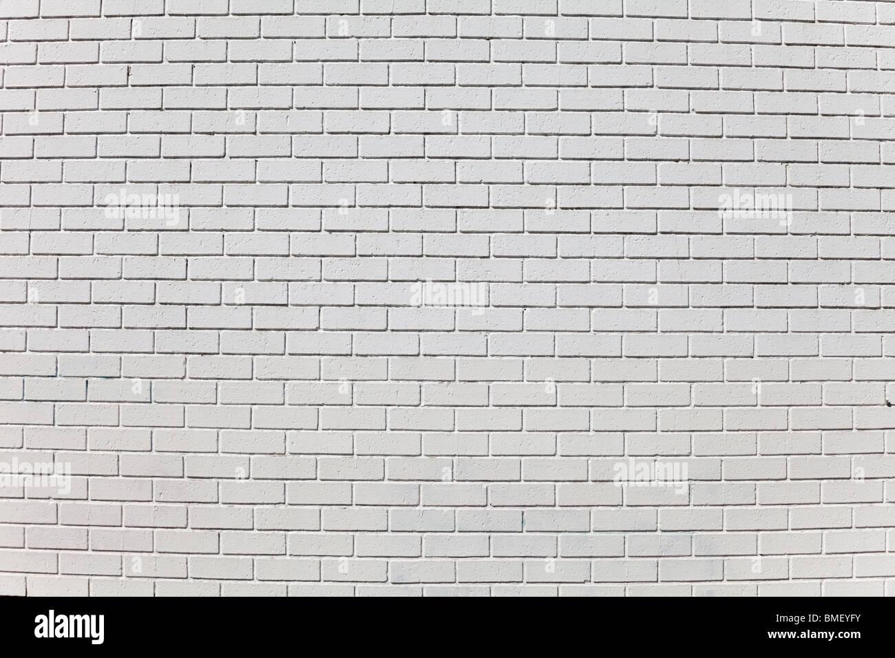 Bianco parete di mattoni per lo sfondo Immagini Stock