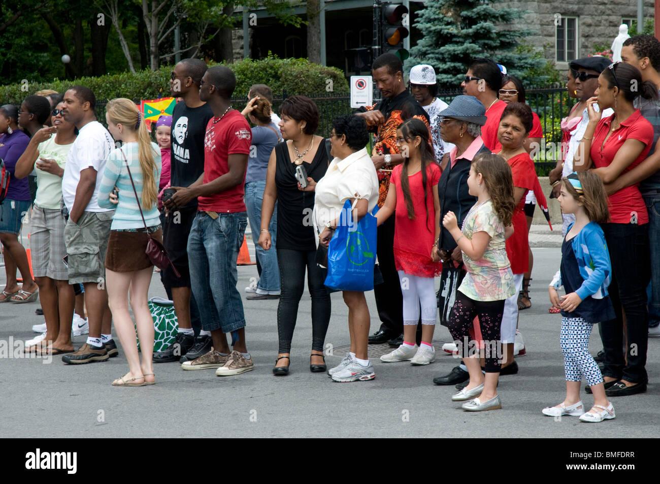 La gente di Montreal, Canada Immagini Stock
