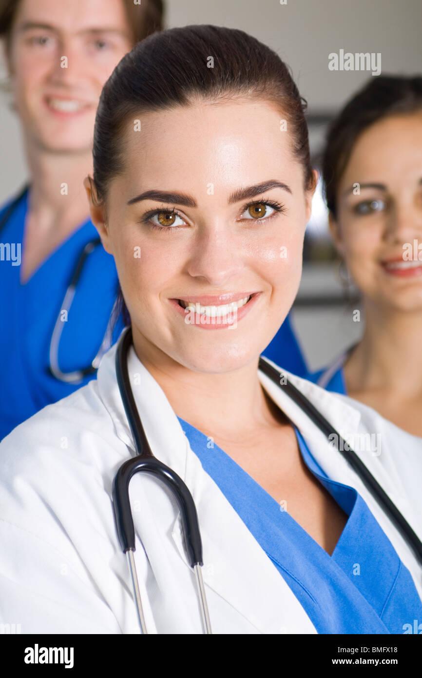 Gruppo di bella professionisti del settore medico Immagini Stock