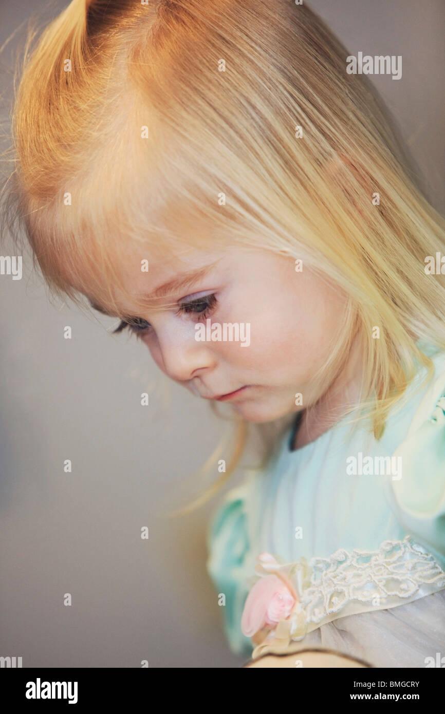 Ritratto di una giovane ragazza Immagini Stock