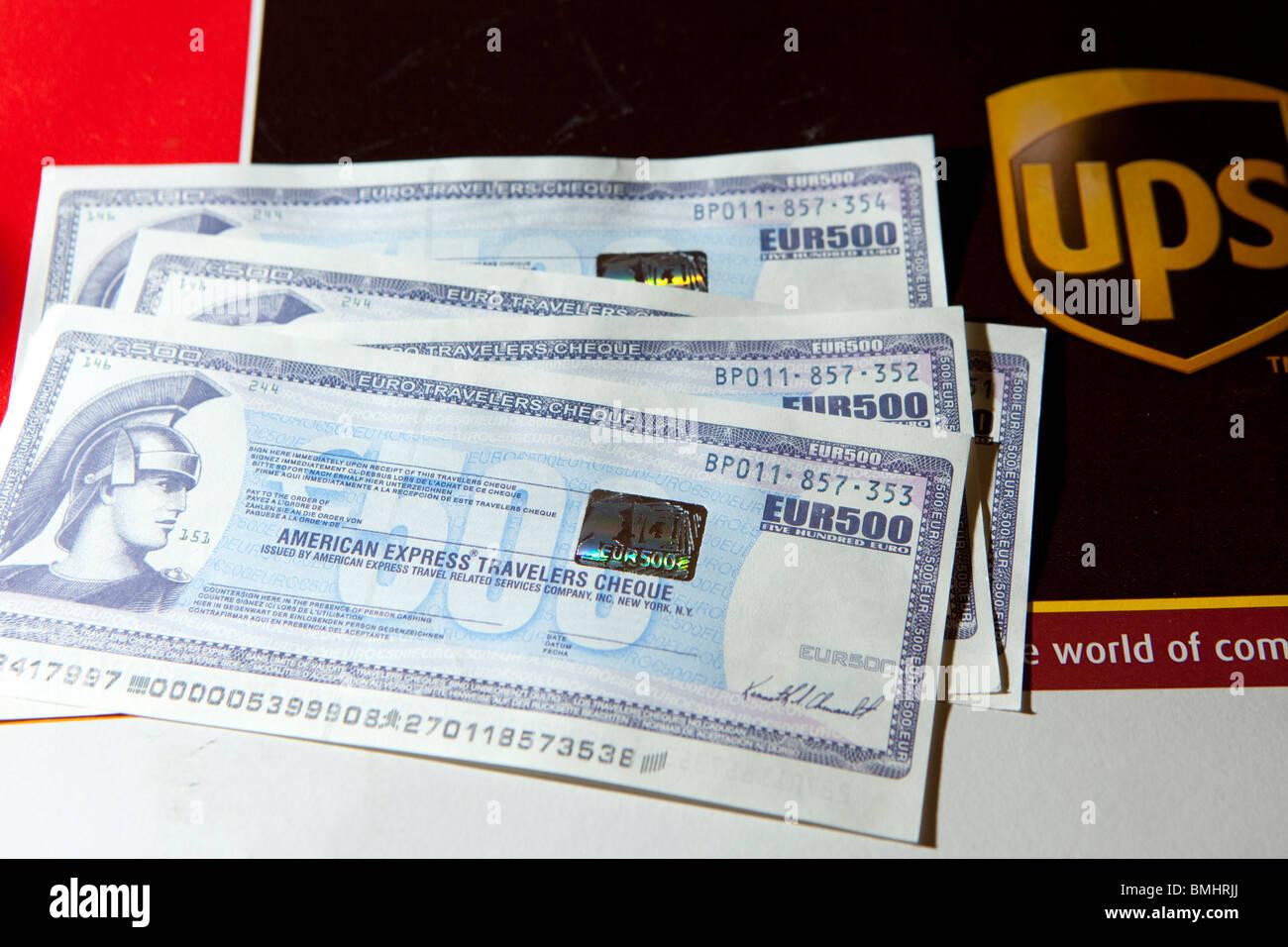 Fotografi in Finlandia è stato pagato con assegni falsi nel giugno 2010. Immagini Stock