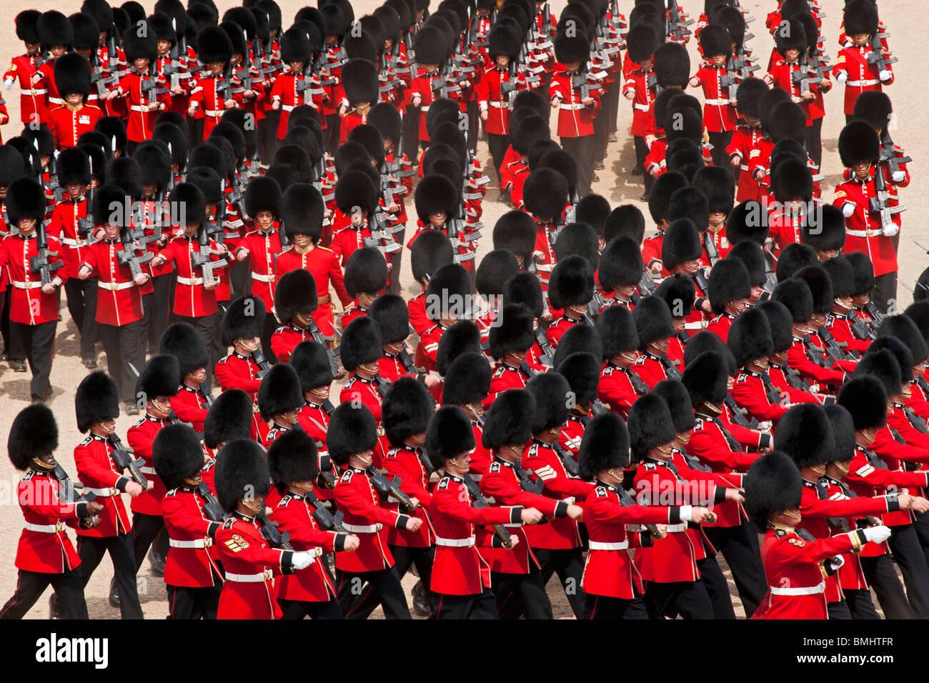La regina il compleanno Parade, noto anche come il Trooping del colore, si tiene annualmente a Horse Guards Whitehall, Immagini Stock