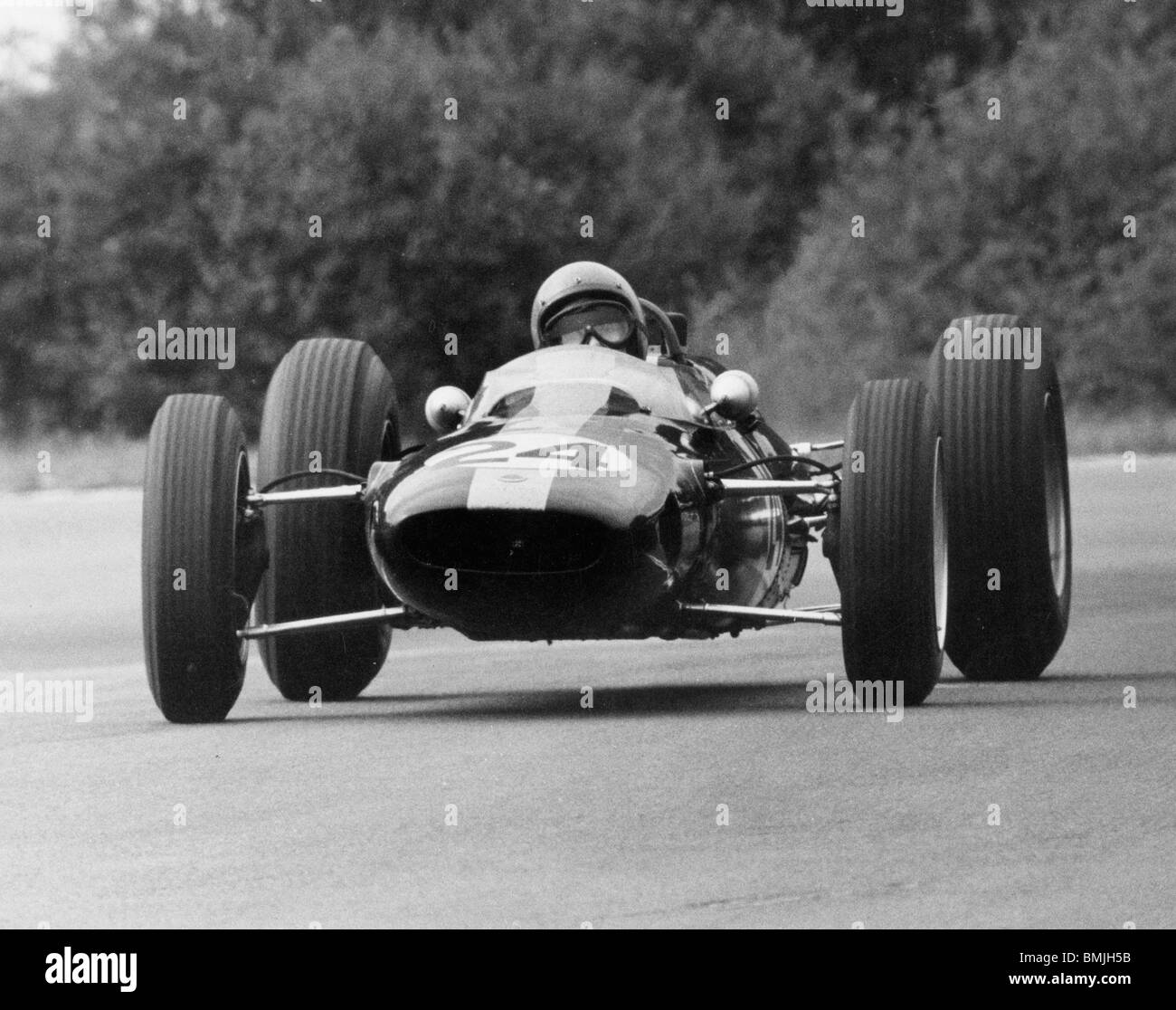 Peter Arundell in Lotus 25 a Spa 1964 Immagini Stock