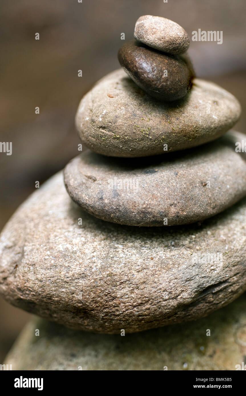 Zen rocce impilate Immagini Stock
