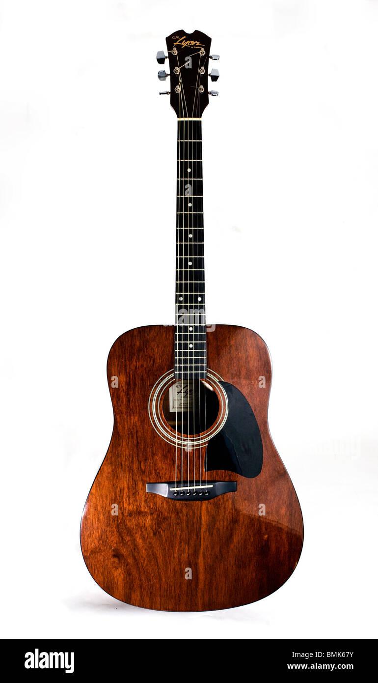 Washburn Lyon chitarra acustica Immagini Stock