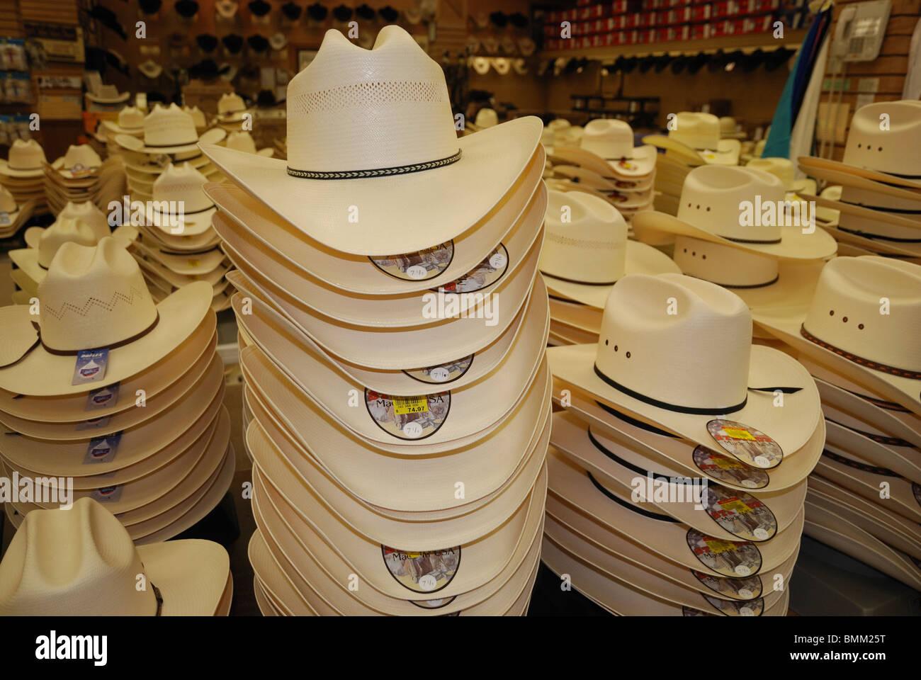 Stetson cappelli in vendita a Stockyards City, Oklahoma City, Oklahoma,  Stati Uniti d'America Foto stock - Alamy