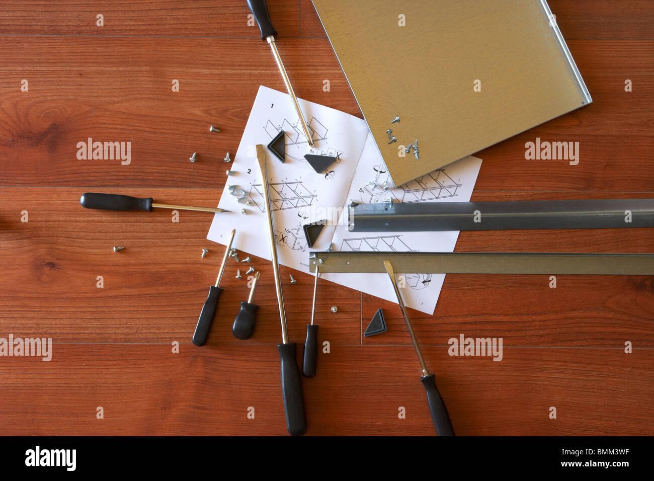Legno Laminato Per Mobili istruzioni di strumenti e parti di ricambio per metallo flat
