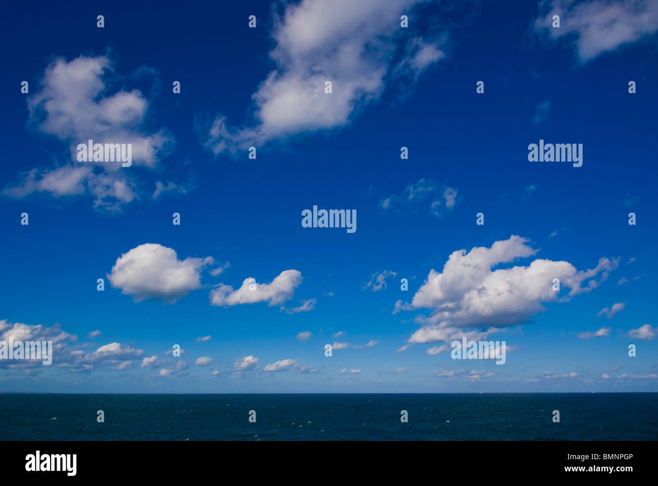English Channel Sky Horizon Immagini Stock