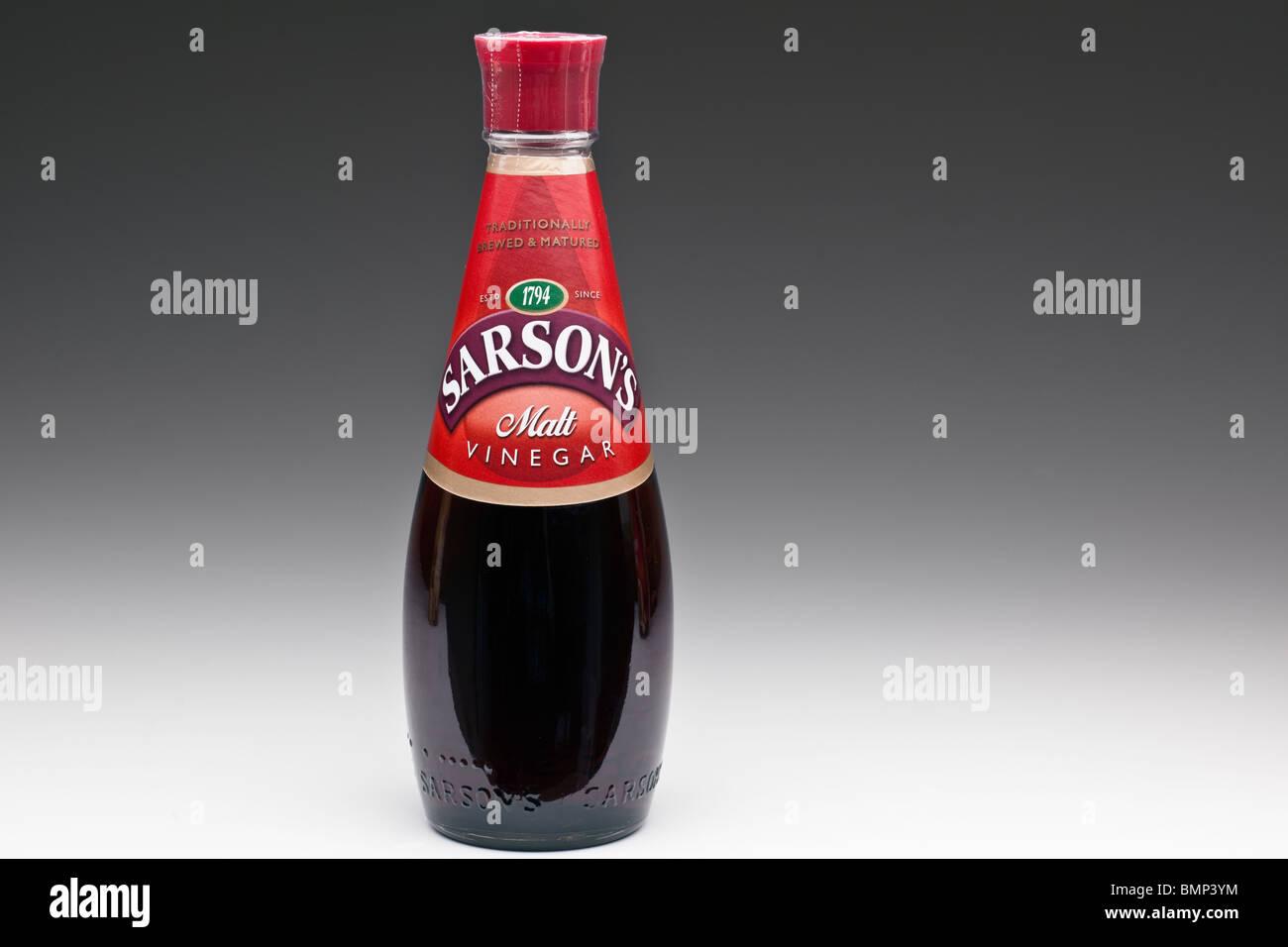 Bottiglia di Sarson di aceto di malto Foto Stock