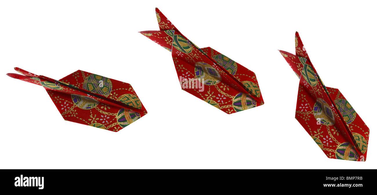 Serie Di Un Colorato Origami Pesce O Squalo Foto Immagine Stock
