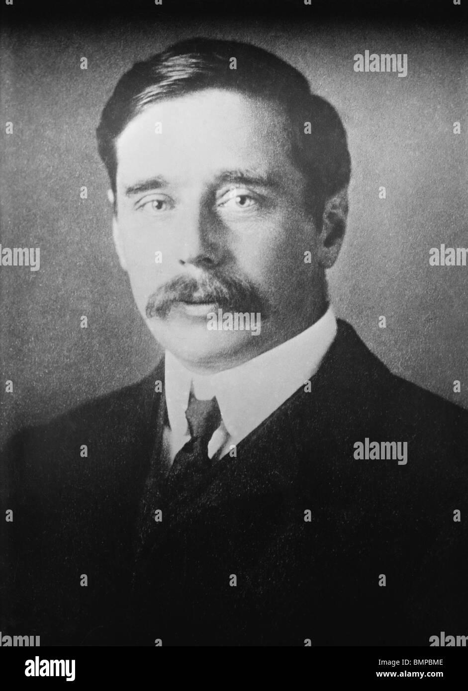 Non datato foto ritratto di H G (Herbert George Wells) (1866 -1946) - autore di La macchina del tempo e la guerra Immagini Stock