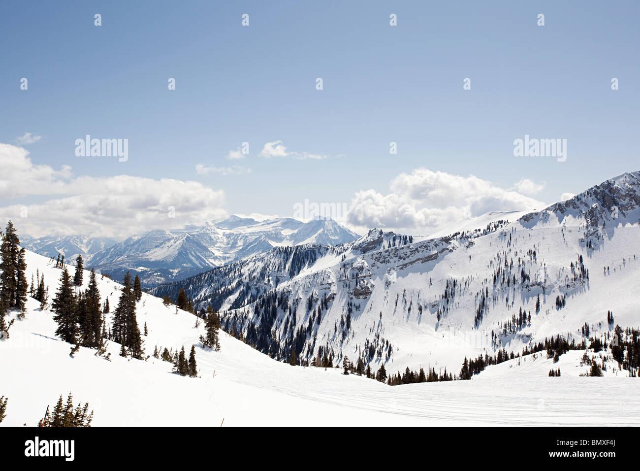 Ski resort nello Utah Stati Uniti d'America Immagini Stock