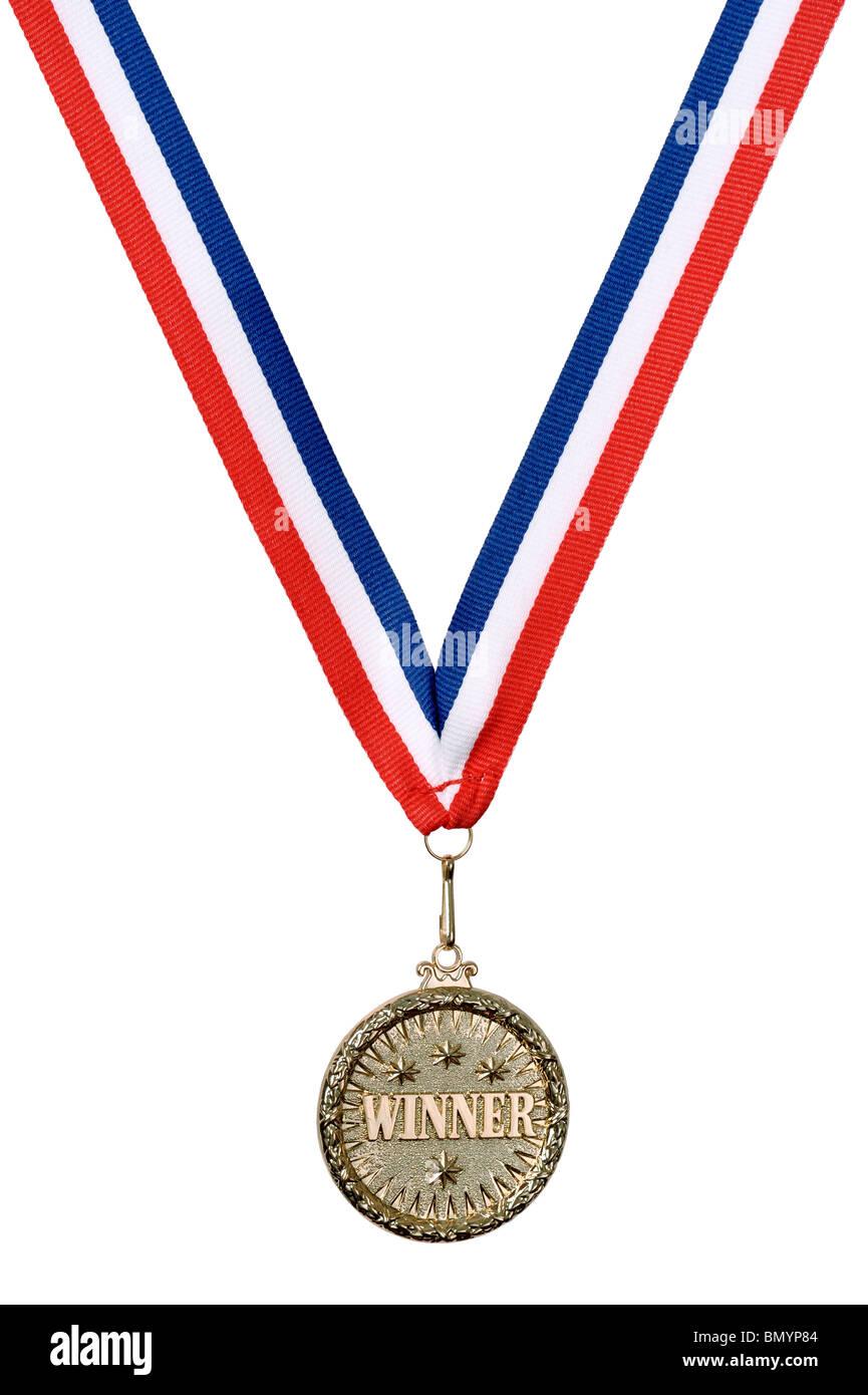 Vincitore Gold medal Immagini Stock