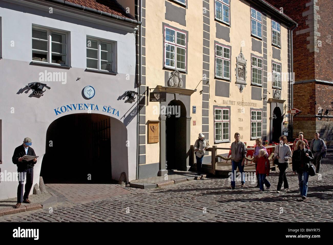 La lettonia,Riga,Convento's Yard,Konventa Seta Immagini Stock