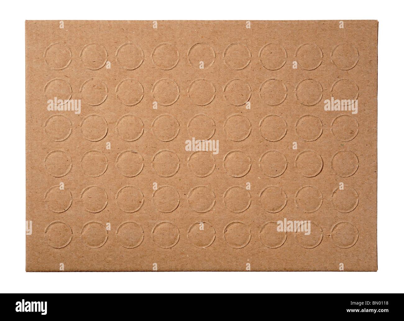 Cartone con cerchi Immagini Stock