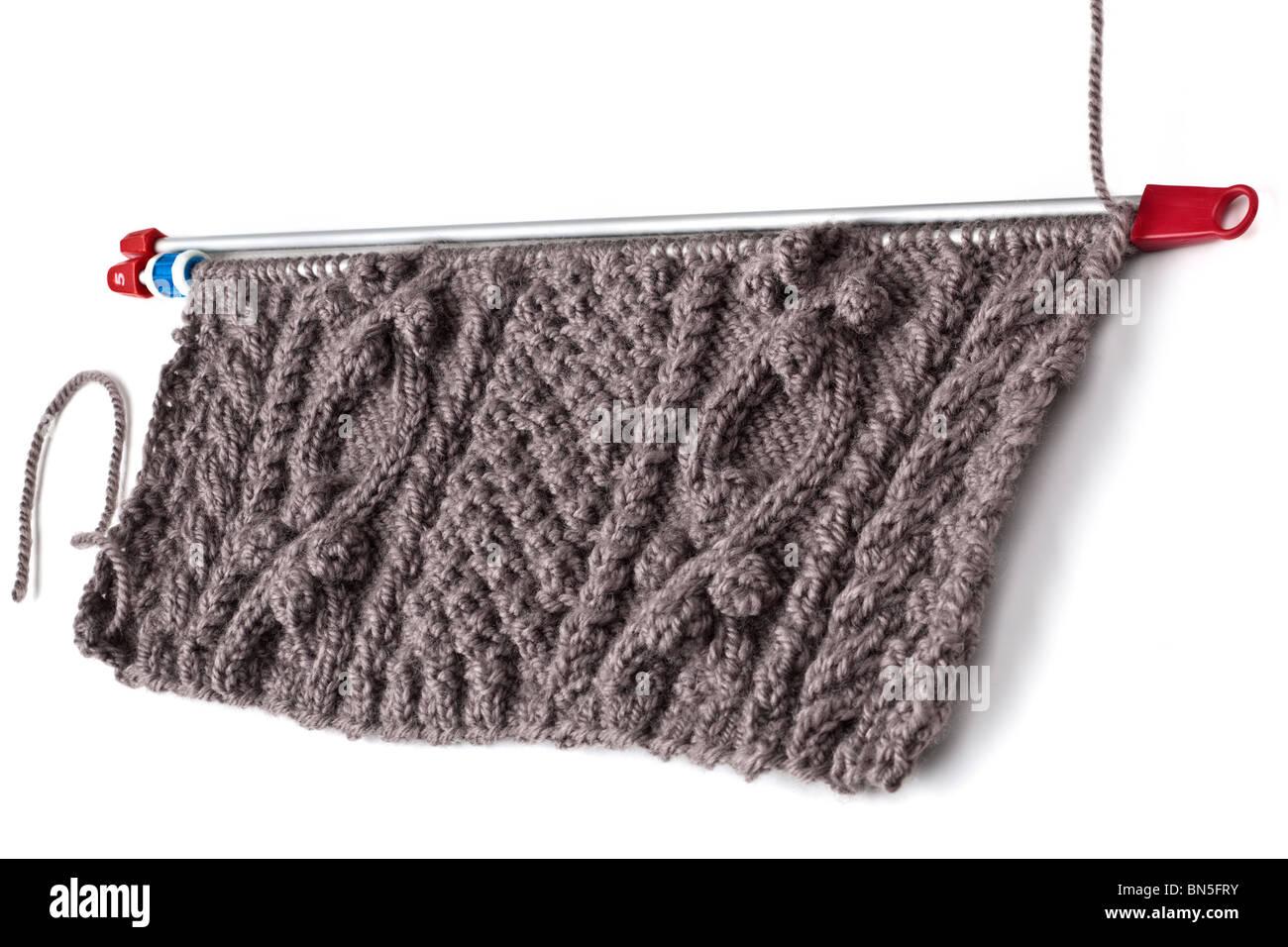 in vendita 419be 22879 Lana marrone e pattern di aran maglia Foto & Immagine Stock ...