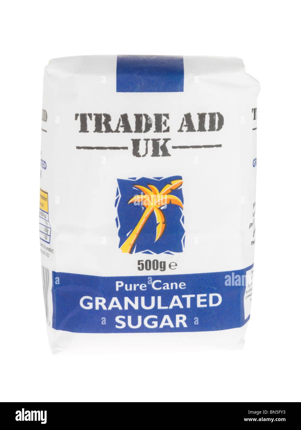 Il commercio equo e solidale di zucchero semolato Immagini Stock