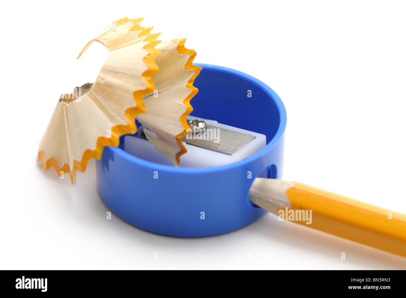Temperamatite e matite Immagini Stock