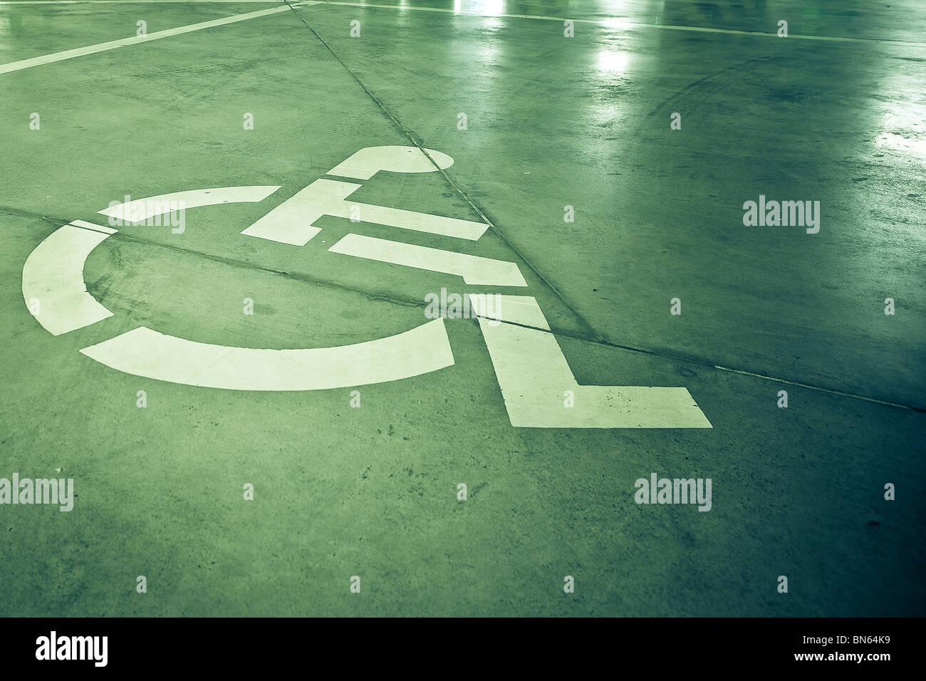 Segno di disabilità su sfondo grunge Immagini Stock