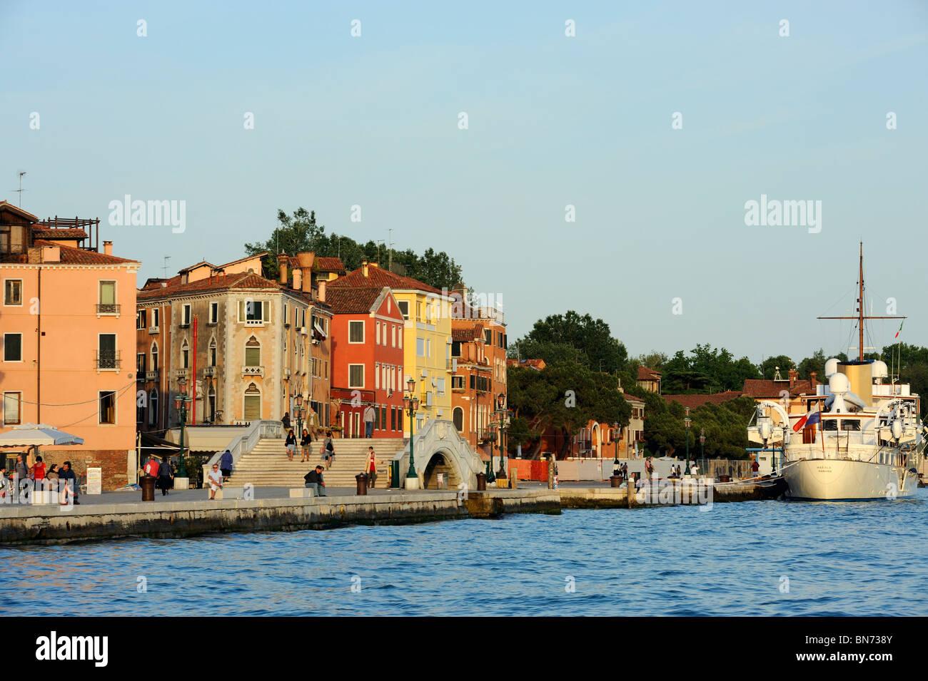 Riva dei Sette Martri a Venezia, Italia Immagini Stock