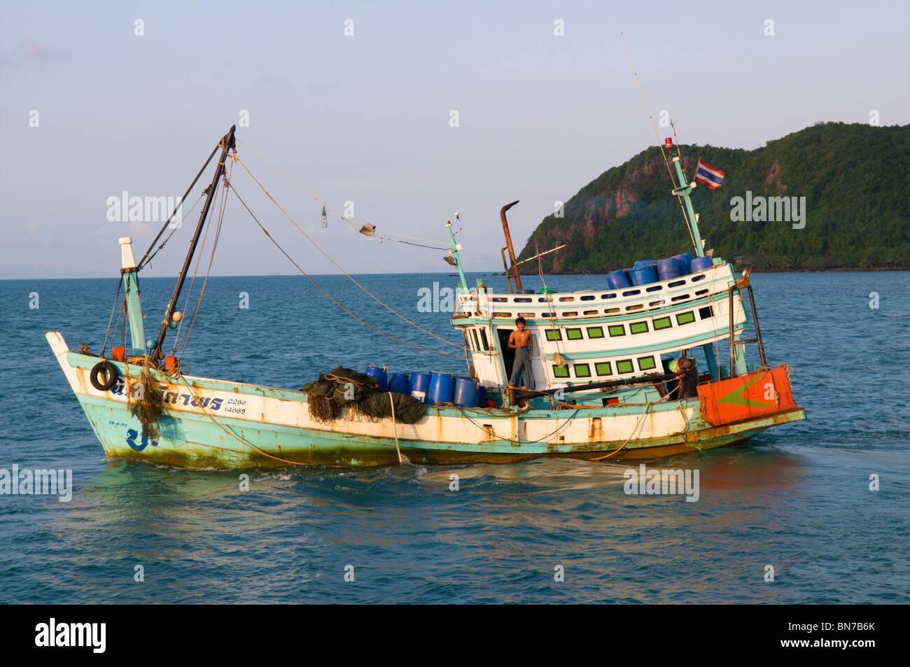 Thai barca da pesca di Koh Phangan Immagini Stock