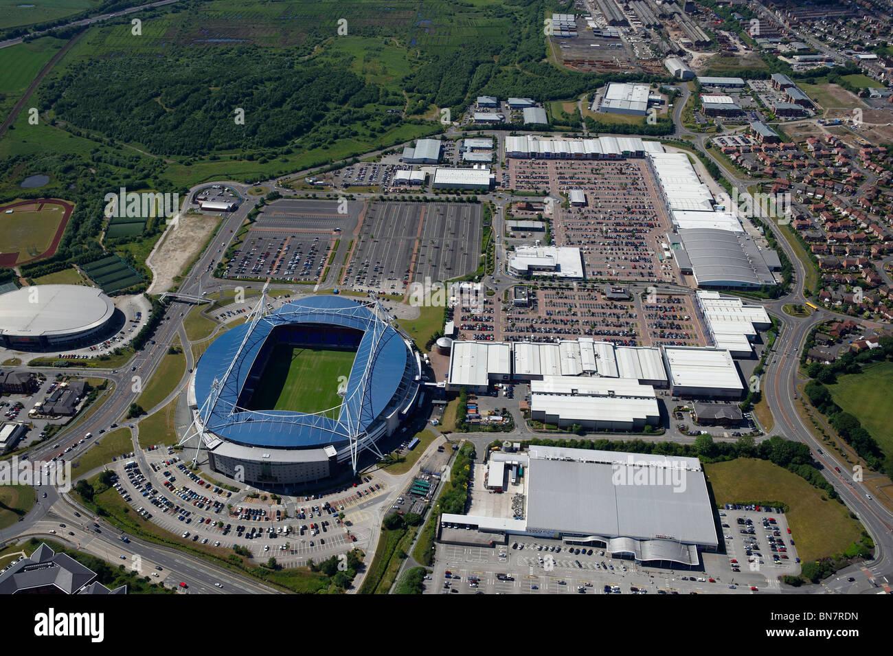 Reebock Stadium e Retail Park. Bolton, Lancashire, Nord Ovest Inghilterra Immagini Stock