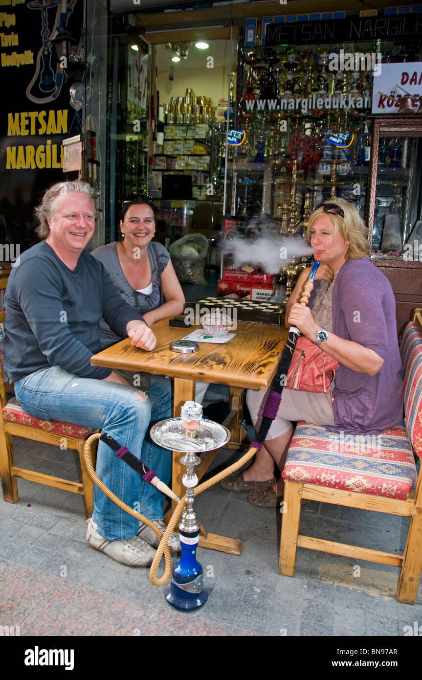 Turchia Istanbul fumatori tubazione acqua tourist Immagini Stock