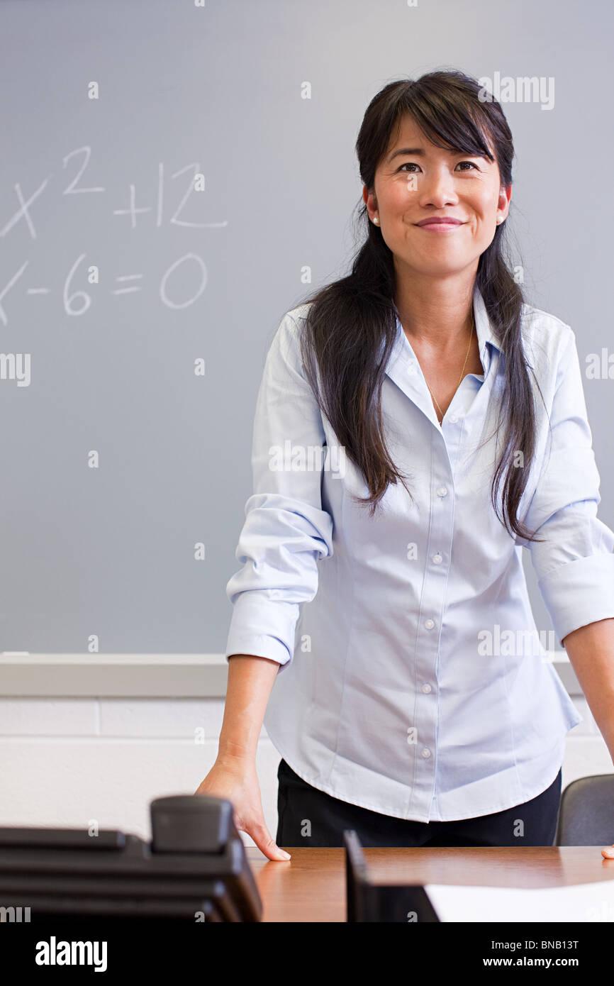 Ritratto di insegnante di scuola superiore Immagini Stock
