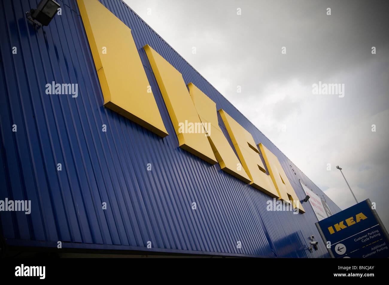 Arredamento ikea superstore svezia svedese super shop store negozi rivenditore al dettaglio uscita fuori dalla città Immagini Stock