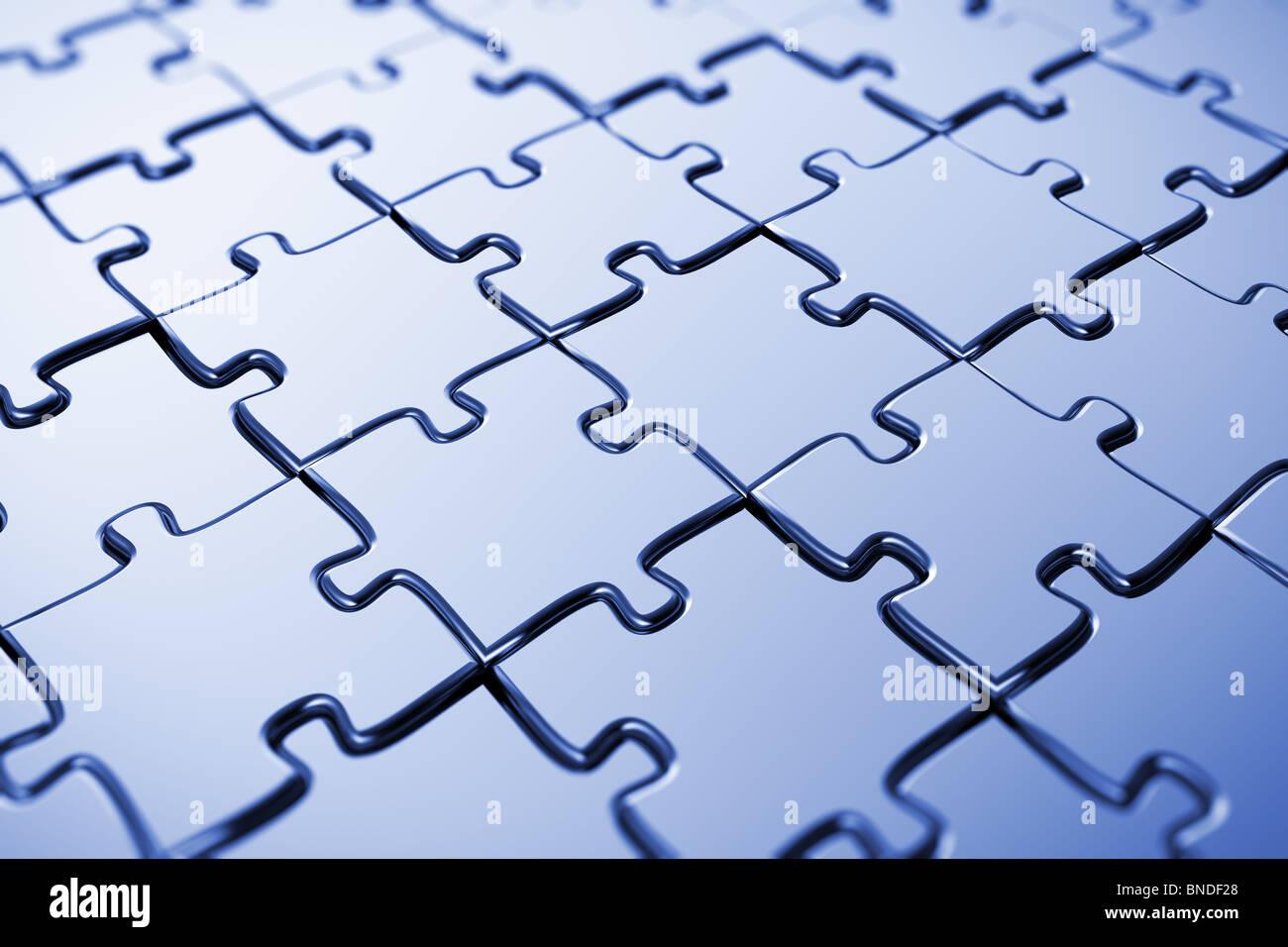 Puzzle in bianco Immagini Stock