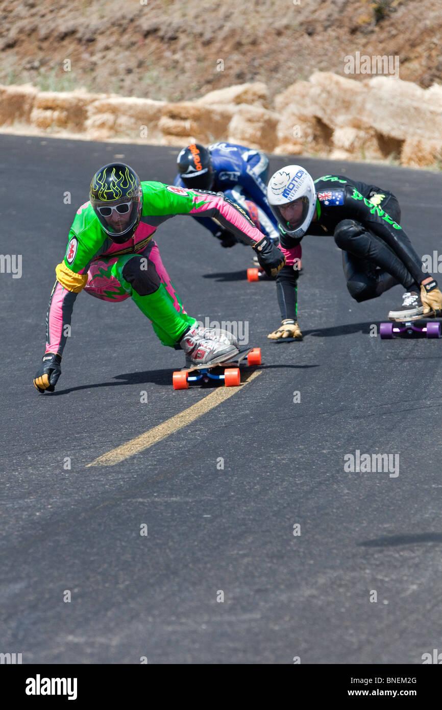 Skateboarders competere, IGSA World Cup Series. Immagini Stock