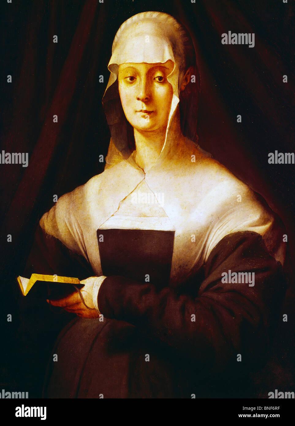 Maria Salviati da Jacopo Pontormo, olio su pannello, 1537, (1494-1556), Italia, Firenze, Galleria degli Uffizi Immagini Stock