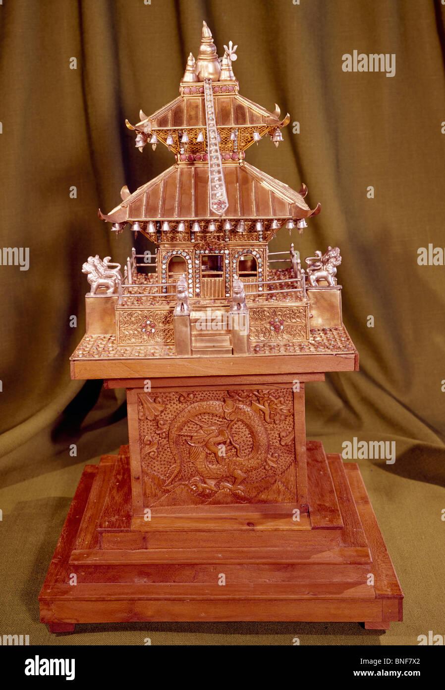 Miniatura Tempio Arti Antiques-Decorative Eisenhower Museum, Abilene Immagini Stock