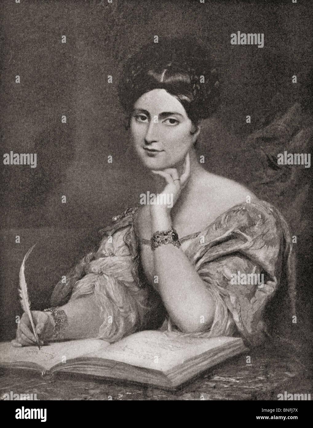 L'onorevole signora Caroline Norton, 1808 a 1877. Autore inglese e riformatore. Immagini Stock