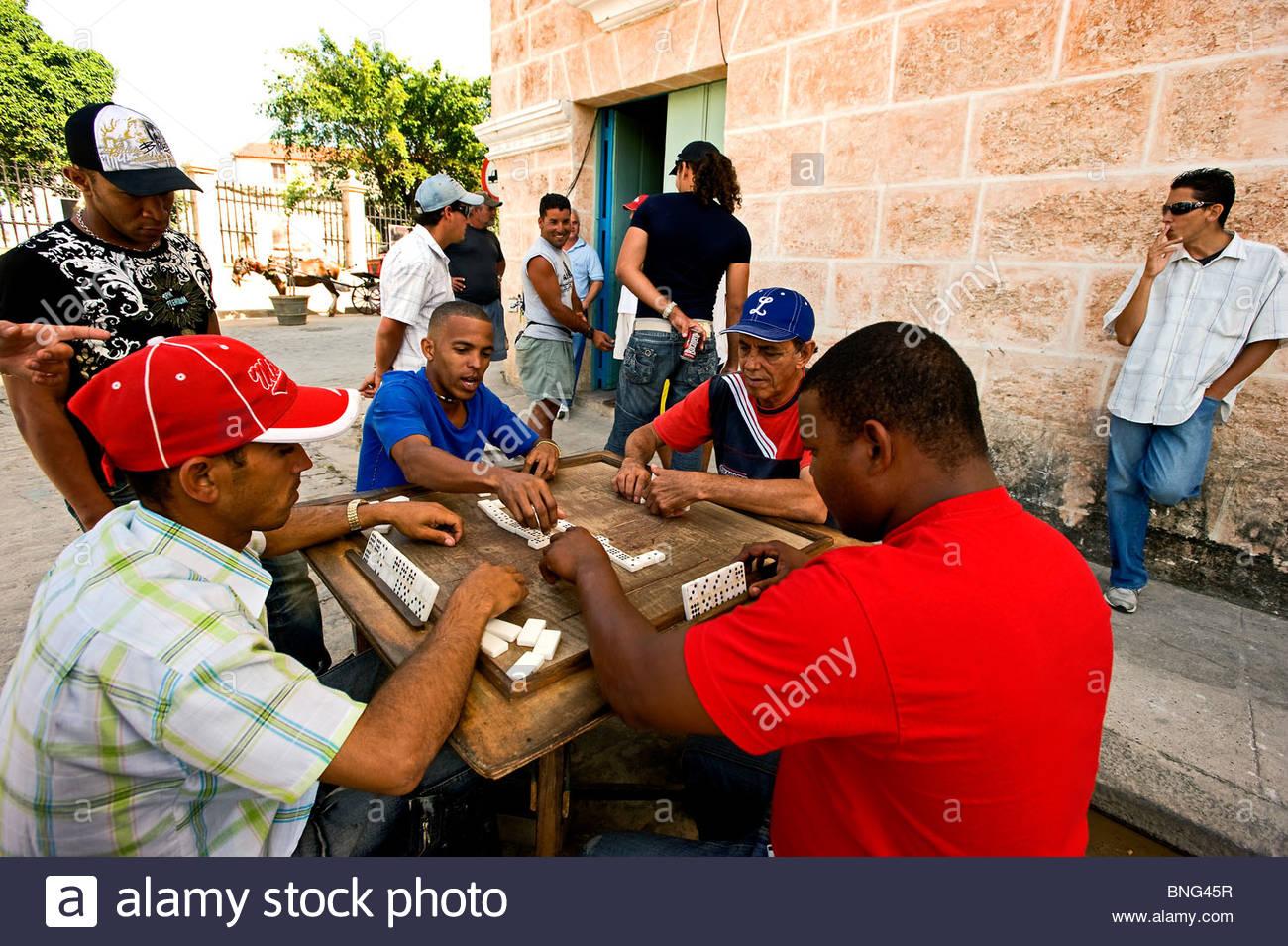 Giocatori di domino. L'Avana, Cuba Immagini Stock