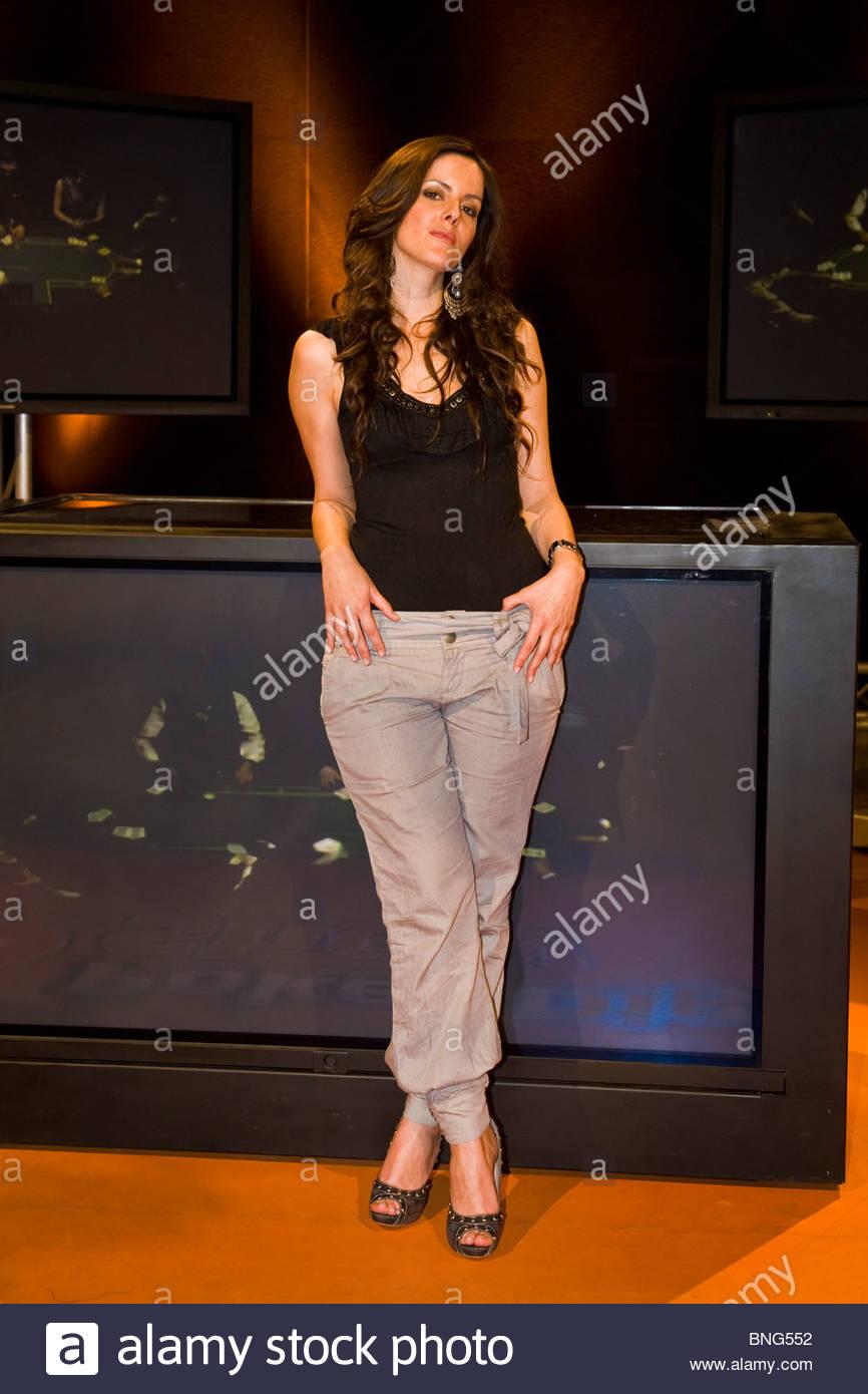 Nathalie Goitom,Poker digitale show,Tele Lombardia Immagini Stock