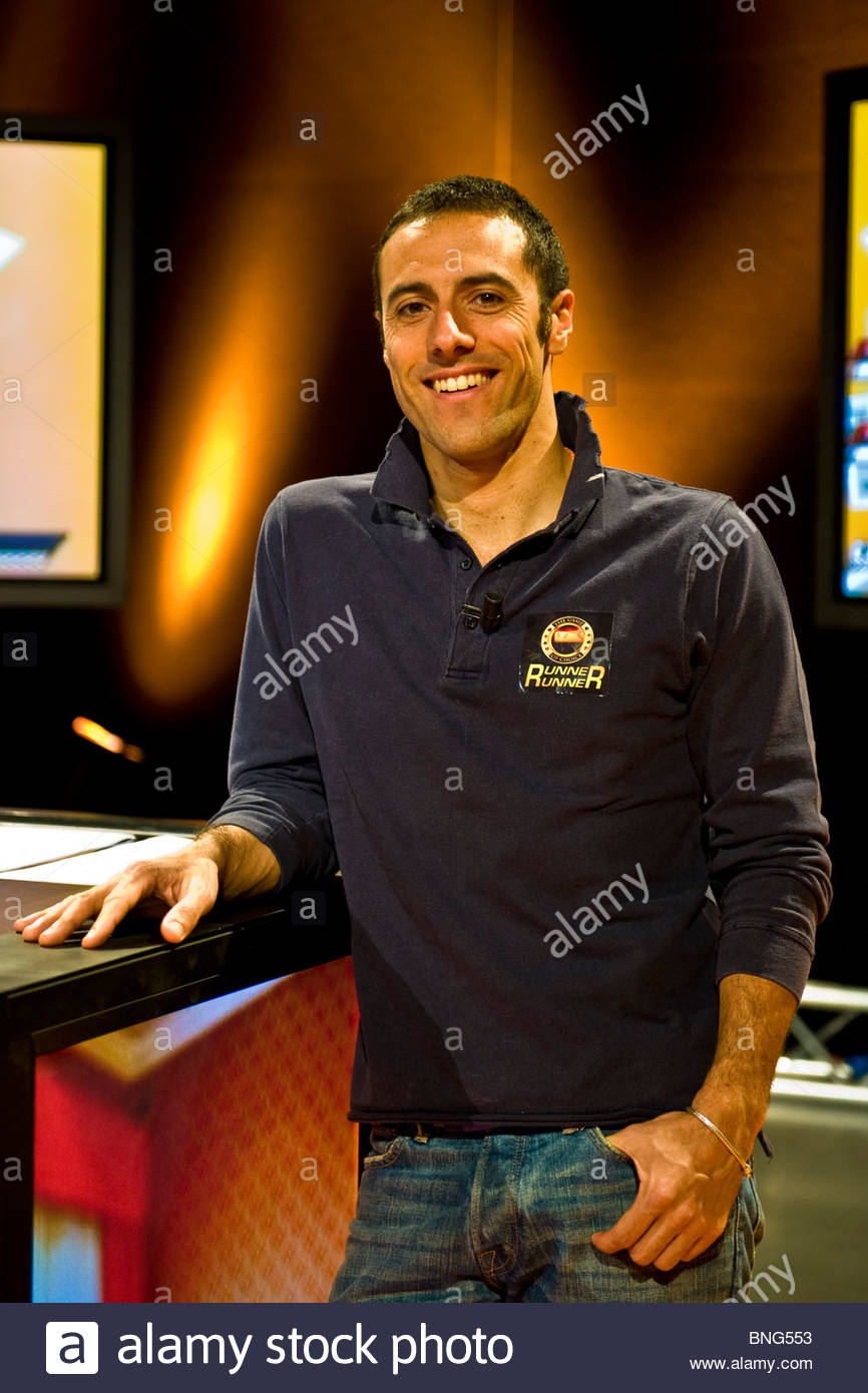 Cristiano Ruiu,Poker digitale show,Tele Lombardia Immagini Stock