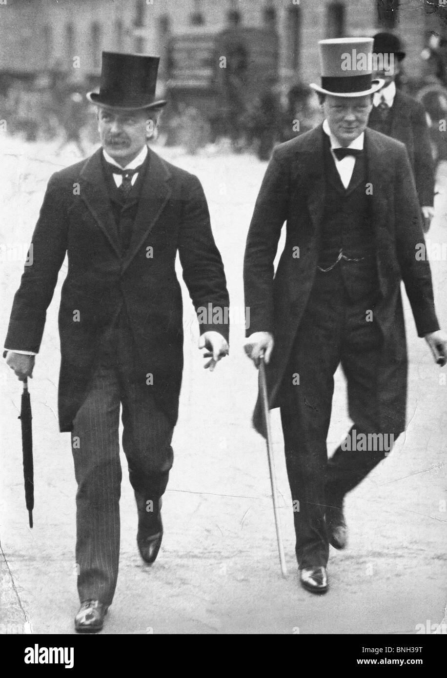Lloyd George e Winston Churchill Foto Stock