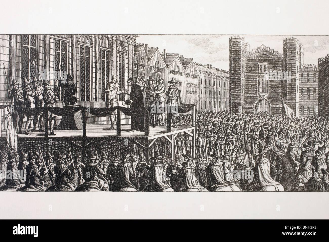 L'esecuzione del re Carlo I di Inghilterra. Immagini Stock