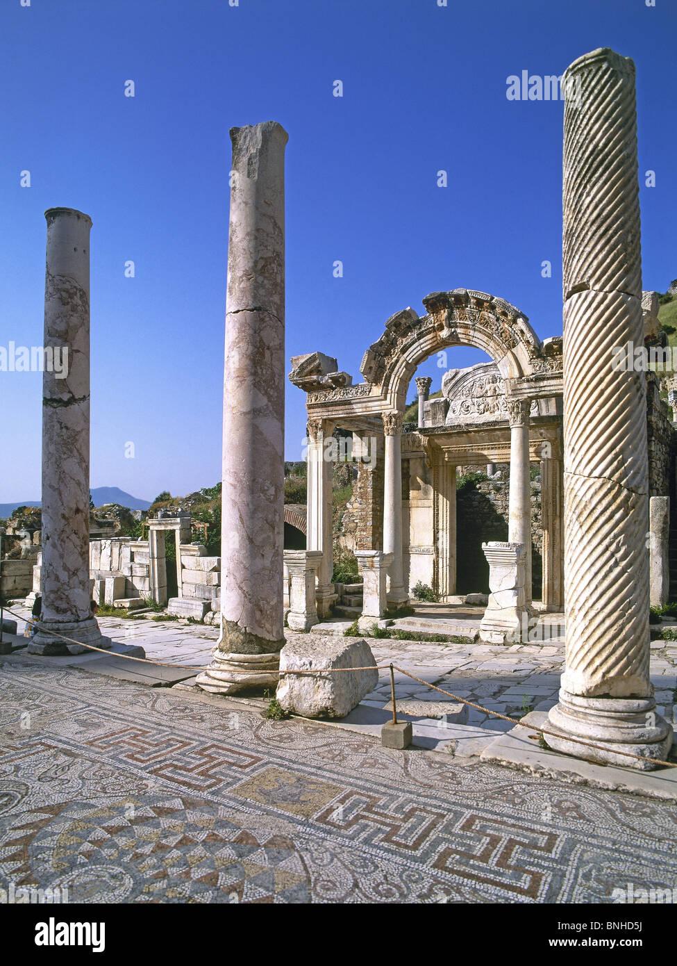 La Turchia 2008 Efeso città antica città antica sede storica rovina rovine greco ellenistico storia romana Tempio Foto Stock