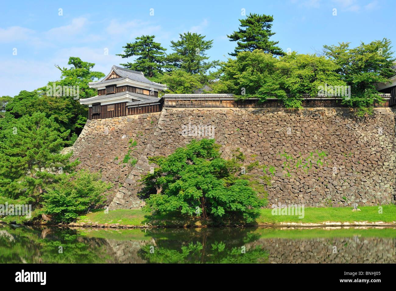 Giappone Matsue Castello Città di Matsue prefettura di Shimane isola di Honshu Asia Architettura Castello Fortezza Foto Stock