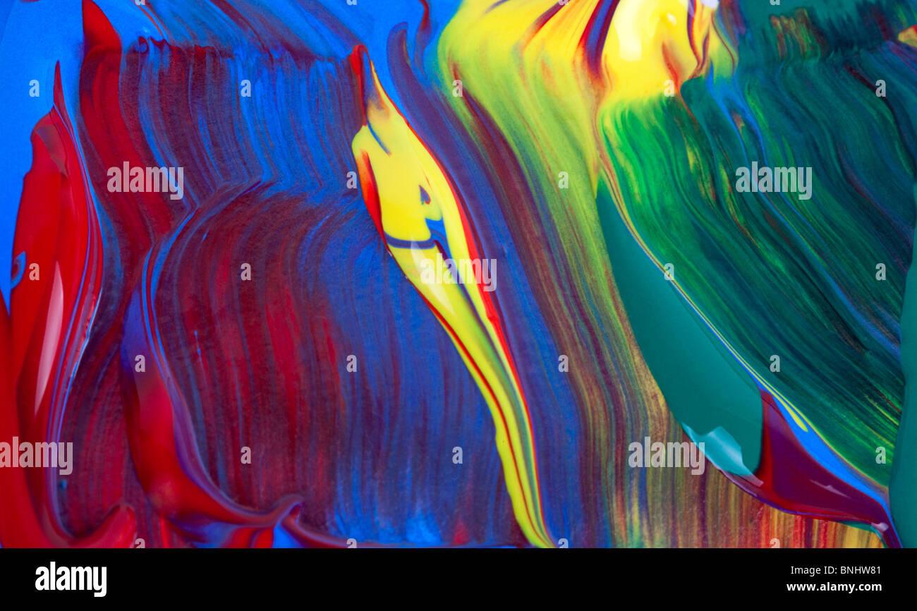 Dettaglio di pittura. Immagini Stock