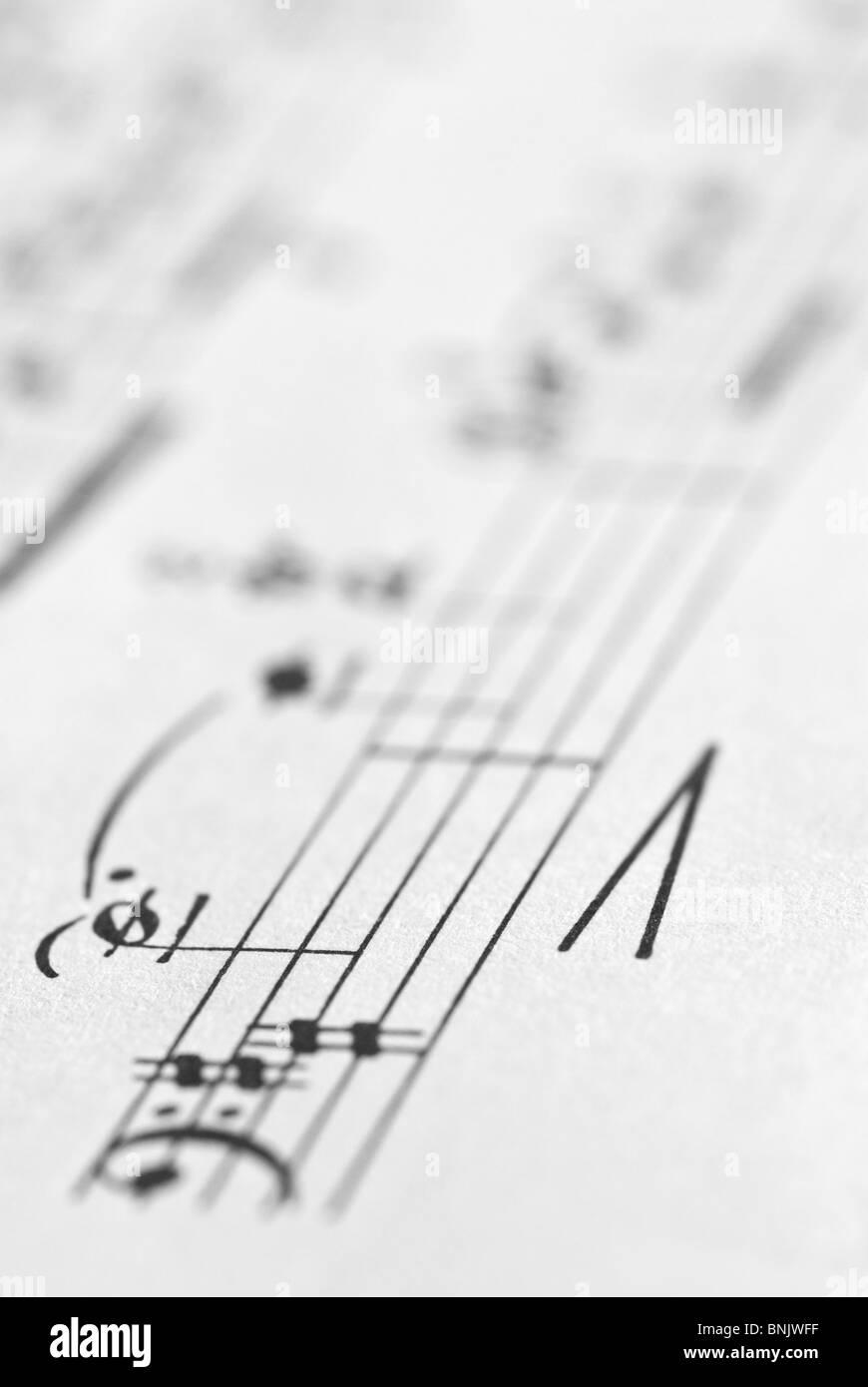La notazione musicale Immagini Stock