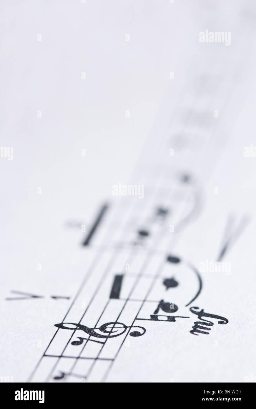 Spartito musicale / Immagini Stock