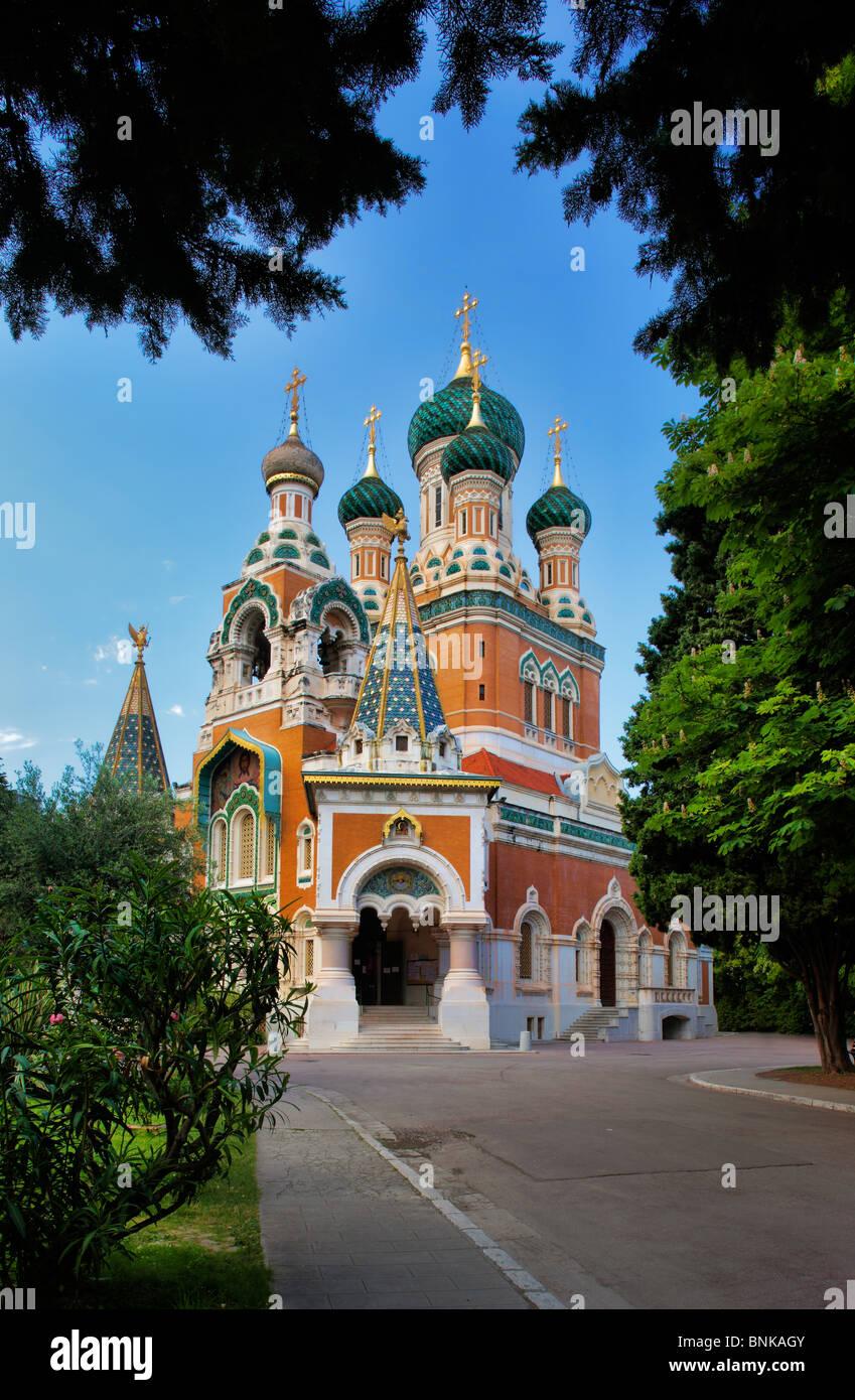 Cathedrale Russe (Cattedrale russa) di Nizza, Francia Immagini Stock
