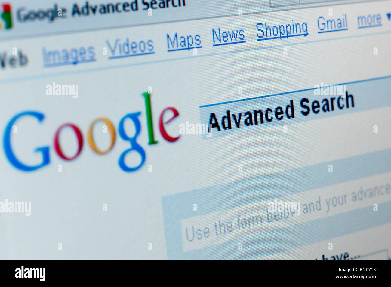 Google Ricerca avanzata Immagini Stock