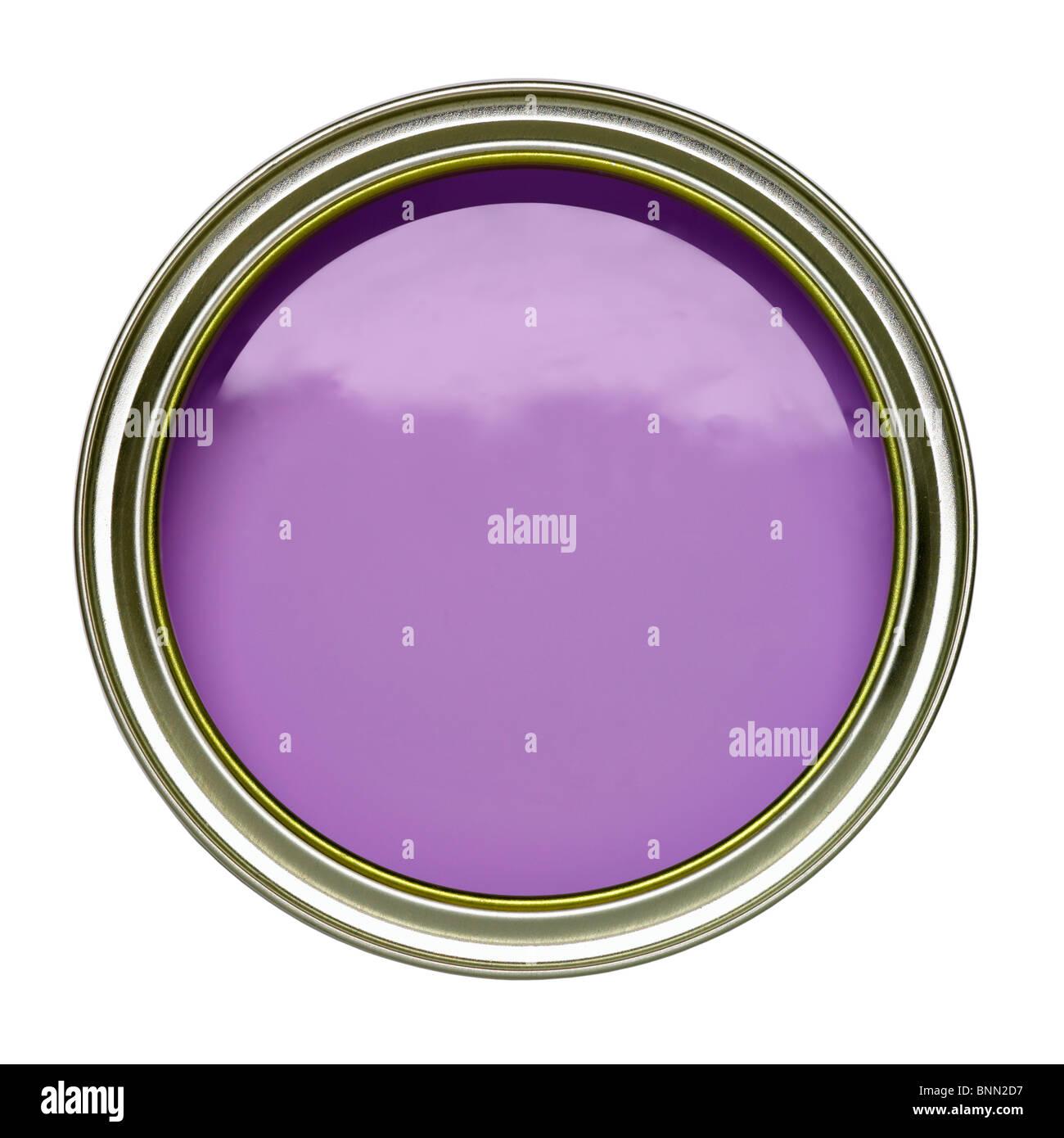 Viola lilla latta di vernice può aprire Immagini Stock