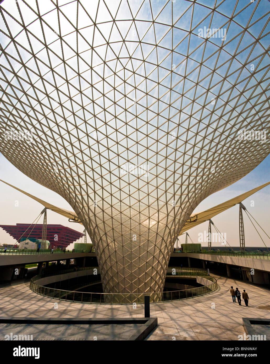 Cina Shanghai Expo Expo boulevard architettura presentano mondiale turismo itinerante vacanza architettura vacanze Immagini Stock
