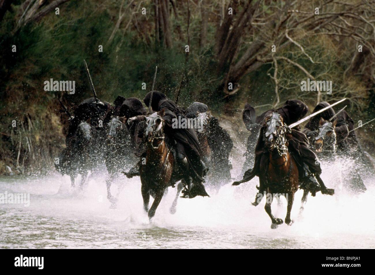 RINGWRAITHS IL SIGNORE DEGLI ANELLI: La compagnia dell'anello (2001) Immagini Stock