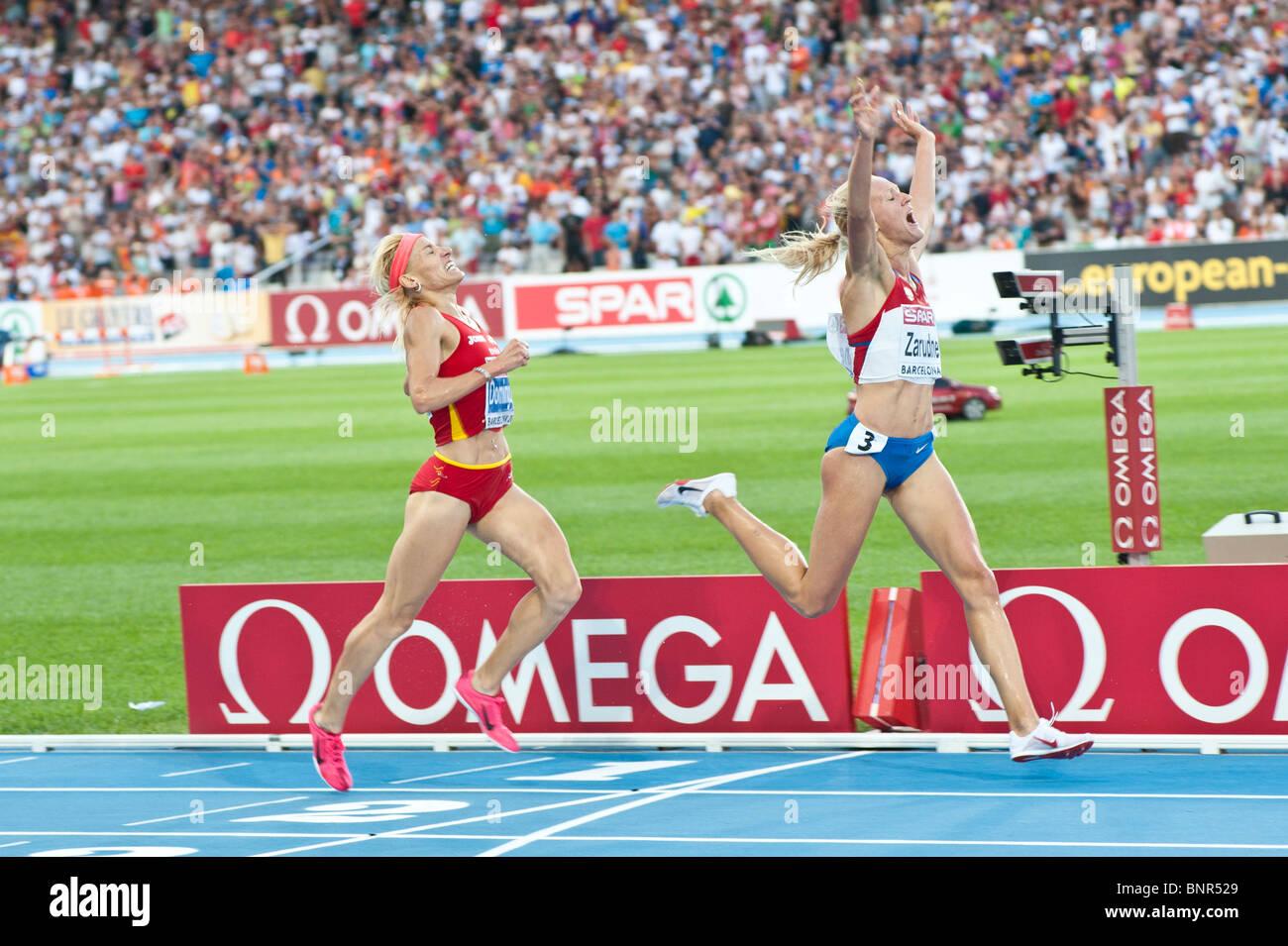Dal 30 luglio al 2010 Barcellona Campionato Europeo di Atletica Immagini Stock